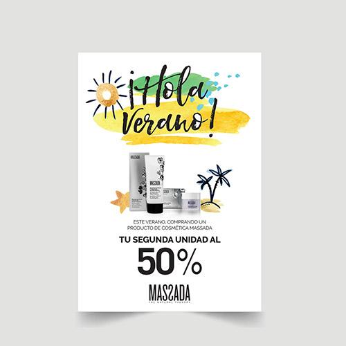 cartel promocional cosmética