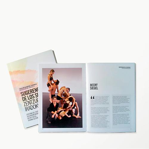 maquetación editorial libro exposición
